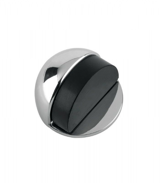 ZAB06-CP DOOR STOP - FLOOR MOUNTED - OVAL 50MM DIA.